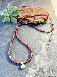 Garnet Strand Necklace